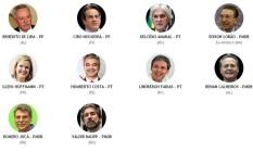 Políticos citados por delator Foto: O Globo