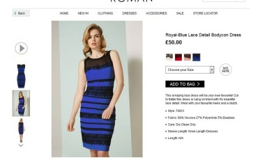 O vestido polêmico na página da marca Foto: Divulgação