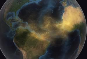 182 milhões de toneladas de poeira cruzam o Atlântico todos os anos da África para as Américas