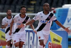 Rodrigo comemora gol marcou pelo Vasco contra o Bangu em São Januário Foto: Rafael Moraes / Agência O Globo