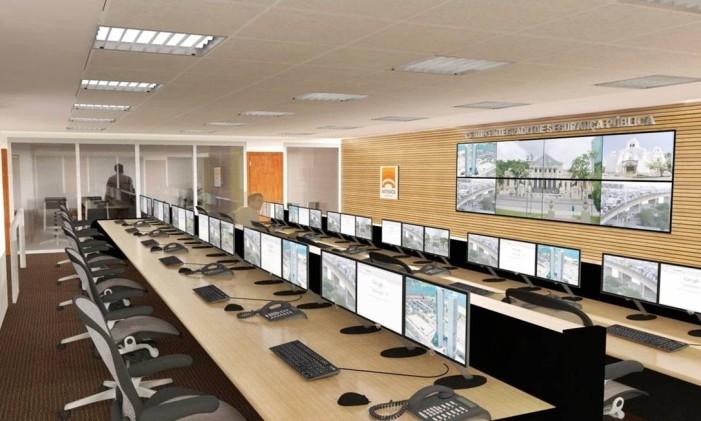 Projeto da sala de monitoramento de câmeras no Cisp Foto: Divulgação/Prefeitura de Niterói