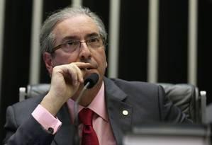 """Eduardo Cunha: """"Tem 200 inquéritos no STF"""" Foto: Agência O Globo / Ailton de Freitas/24-2-2015"""