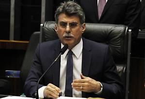 O senador Romero Jucá (PMDB-RR) Foto: Jorge William/24-02-2015 / Agência O Globo
