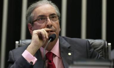 O presidente da Câmara, Eduardo Cunha Foto: Ailton de Freitas / Agência O Globo