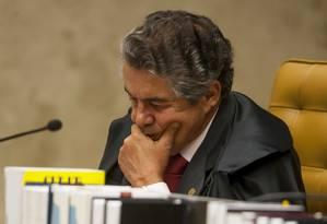 Ministro Marco Aurélio Mello Foto: Divulgação / Supremo Tribunal Federal