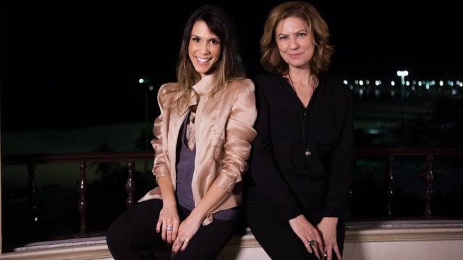 Patrícia Pillar é a convidada de Sarah no programa de estreia: vinho depois da gravação Foto: Divulgação