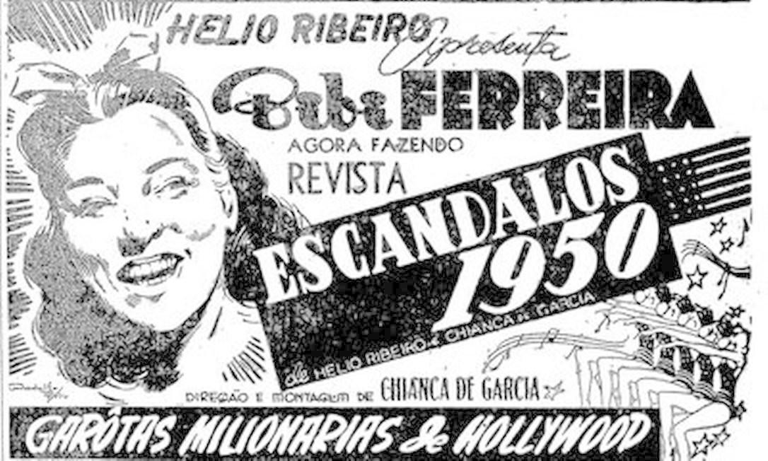 Peça publicitária publicada no GLOBO em 1950 Foto: Arquivo