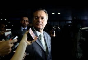 Presidente do Senado, Renan Calheiros Foto: O Globo