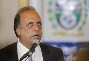 O governador Luiz Fernando Pezão Foto: Fabiano Rocha/01-01-2015