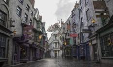 O Beco Diagonal, uma das atrações dedicadas a Harry Potter no parque Universal Orlando, na Flórida Foto: Arquivo / Divulgação