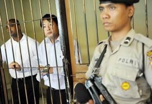 Myuran Sukumaran e Andrew Chan, condenados por tráfico de drogas em 2006, serão fuzilados em breve Foto: ANTARA FOTO / REUTERS