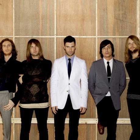 A banda Maroon 5 Foto: Andrew Zuckerman / Agência O Globo