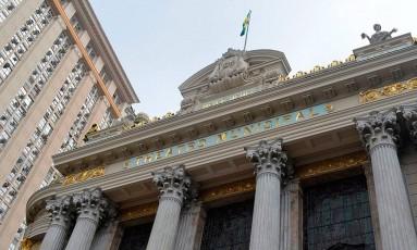 A fachada do Theatro Municipal do Rio Foto: Lucas Tavares / Agência O Globo