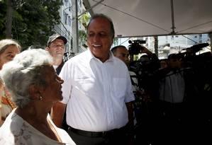 Governador do Rio de Janeiro, Luiz Fernando Pezão Foto: Marcos Tristão / Agência O Globo