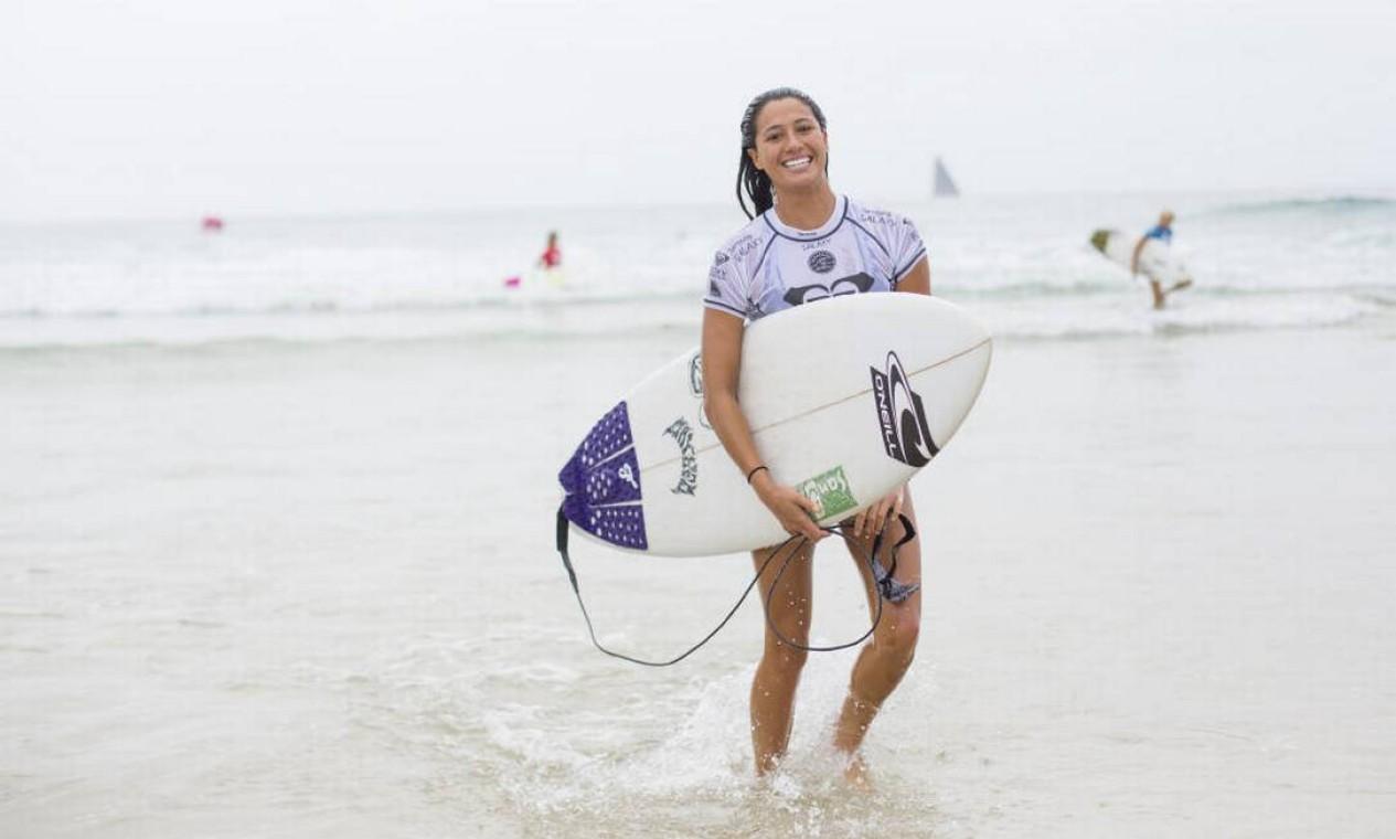 Tatiana pegará na próxima rodada a havaiana Malia Manuel Foto: Divulgação/WSL