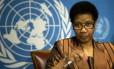 A chefe da agência das Nações Unidas para a promoção da igualdade para as mulheres, Phumzile Mlambo-Ngcuka