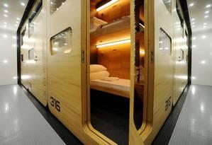 Sleepbox, no Aeroporto Internacional Sheremetyevo, em Moscou, na Rússia Foto: Reprodução