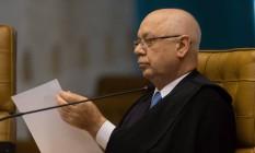 Zavascki é o relator da Operação Lava-Jato no STF. Foto: ANDRE COELHO/Agencia O Globo / Agência O Globo