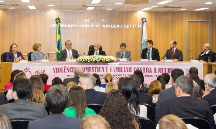 """Evento de lançamento do projeto """"Justiça pela Paz em Casa"""" no Rio (Foto: Divulgação)"""