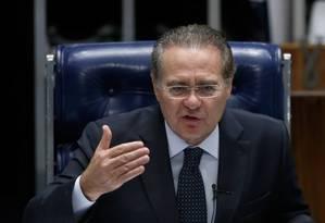 O presidente do Senado, Renan Calheiros (PMDB-AL) Foto: Eraldo Peres / AP