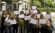 Alunos da Veiga de Almeida protestam pela liberação de vagas no Fies