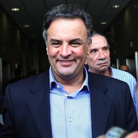 O senador Aécio Neves (PSDB-MG) Foto: Fernando Donasci / Agência O Globo