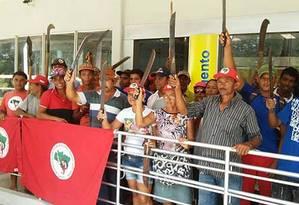 MST ocupa nesta terça-feira agências bancárias do Banco do Brasil, da CEF e do Banco do Nordeste Foto: Divulgação