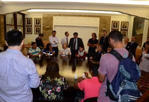 Reunião realizada no salão nobre da sede do TRT nesta segunda-feira Foto: TRT / Divulgação