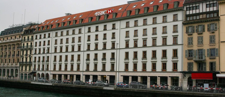 A fachada do banco HSBC na Suíça Foto: CITIZENSIDE/RÉMY GENOUD / Agência O Globo