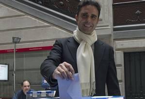 Falciani: bancos criaram sistema de apoio à evasão fiscal e à lavagem de dinheiro Foto: Quique Garcia/AFP/25-5-2014