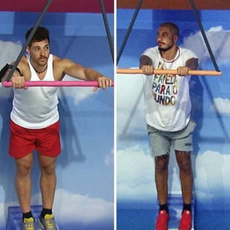 Cézar e Fernando foram os últimos a resistir na prova Foto: Reprodução