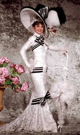 """Vestido emblemático de Audrey Hepburn em """"Minha bela dama"""" Foto: Divulgação"""