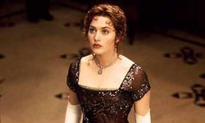 """O vestido de 'Rose' em """"Titanic"""" Foto: Reprodução"""