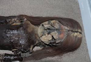 Aumento da umidade está transformando múmias em gosma negra Foto: Reprodução/VIVIEN STANDEN
