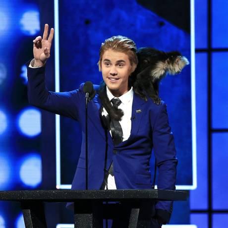 Justin Bieber no 'Comedy Central roast' Foto: Christopher Polk / AFP