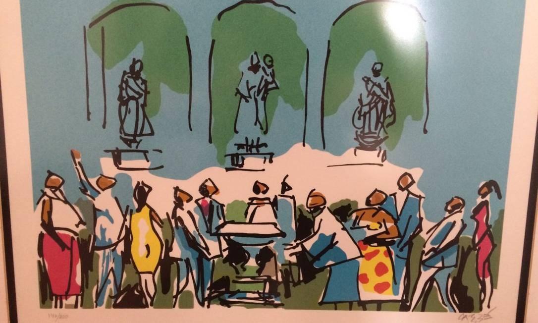 Obra de arte Não foi feita ainda uma avaliação das obras Foto: PF / Divulgação