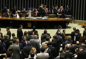 Sessão Congresso durante votação do o projeto de Lei Diretrizes Orçamentárias de 2015 Foto: Ailton de Freitas / Agência O Globo