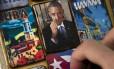Imãs de geladeira com foto do presidente americano Barack Obama são vendidos em Havana, Cuba.