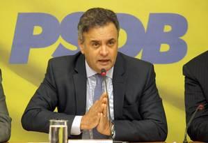 Acusações feitas a Aécio por Youssef foram arquivadas por Janot: falta de provas Foto: Givaldo Barbosa/11-03-2015 / Agência O Globo