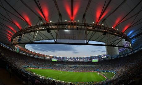 Maracanã. Palco da final do Mundial pode ficar fora das finais do Carioca Foto: GABRIEL BOUYS / GABRIEL BOUYS/AFP/13-7-2014