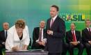 Presidente Dilma Rousseff durante cerimônia de posse de Thomas Traumann Foto: PR/03-02-2014 / R.Stuckert