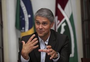 O presidente do Fluminense Peter Siemsen Foto: Cezar Loureiro / Agência O Globo