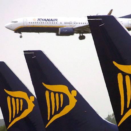 Avião da Ryanair aterriza em Dublin Foto: ANDY RAIN / EFE