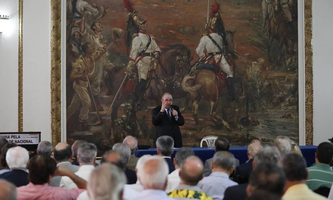 Evento de lançamento da campanha pela moralidade Nacional, no Clube Militar Foto: Pablo Jacob / Agência O Globo