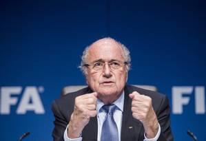 Presidente da Fifa criticou postura intervencionista do governo brasileiro Foto: Ennio Leanza / AP