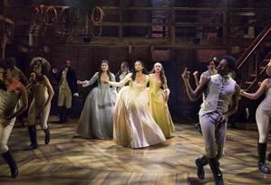 """Hamilton"", sucesso na Broadway desde 2015 Foto: Sara Krulwich/The New York Times"