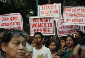 Na Índia, comunidade cristã protesta em prol das mulheres Foto: STRDEL / AFP
