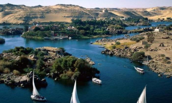 Rio Nilo, o maior do mundo, abastece 10 países Foto: Divulgação / Agência O Globo