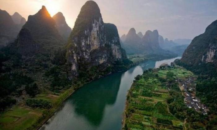 Rio Yangtzé é um dos mais extensos do mundo Foto: Divulgação / Agência O Globo