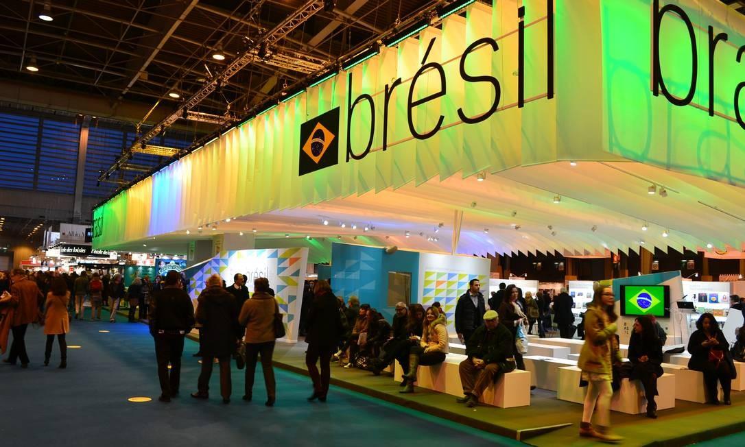 Homenageado. Estande do Brasil é o maior do evento, com 500 m²: para editora, faltam ao país novos nomes de peso Foto: Divulgação / divulgação
